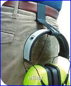 10 WORKTUNES Digital AM FM MP3 Radio HEADPHONES Hearing PROTECTION with BELT CLIPS