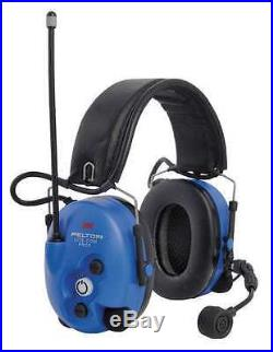 3M MT7H7F4010-NA-50 Electronic Ear Muff, 25dB, Blue