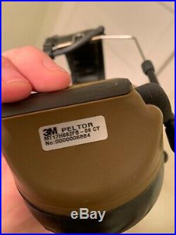 3M PELTOR COMTAC III Hearing Defender Headset Coyote Brown, Used in great shape