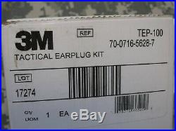 3M PELTOR TACTICAL EAR PLUG KIT TEP-100 ELECTRONIC HEARING PROTECTION with CHARGER