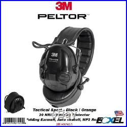 3M Peltor 97451, Tactical Sport Hearing Protector, NRR 20dB, Folding Earmuff