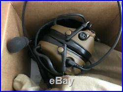 3M Peltor Comtac III Single Comm Headset Coyote Brown MT17H682FB-09 CY New