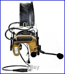 3M Peltor Comtac IV Hybrid Comm/Shooting Headset, Dual Comm Auto Mute Military