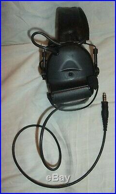 3M Peltor SWAT-TAC ComTac II Tactical Communications Headset MT15H69FB-61 SV NIB