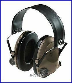 3M Peltor Soundtrap Slimline Electronic Headset Olive Green Headband Model