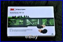 3M Peltor TEP-100 Rechargeable Tactical Digital Earplug Set TEP-100 New