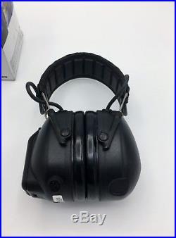3M Peltor Tactical Pro Electronic Headset, Foldable Headband, Black MT15H7F SV
