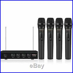 4 Channel VHF Wireless Microphone Phenyx Pro 4-Channel Wireless Microphone Sysem
