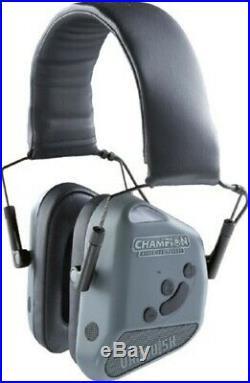 Champion 40980 Vanquish Gray Shooting Hearing Protection Bluetooth Earmuffs