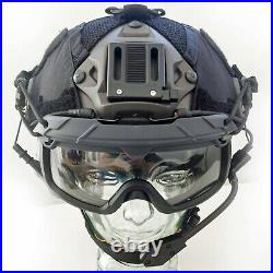 Custom Low Viz Maritime Tactical Bump Helmet + Electronic Earmuffs + ANSI Goggle