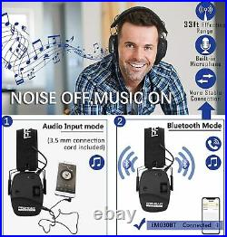Electronic 5.0 Bluetooth Earmuffs Shooting Ear Protection Ear Defender Hunting