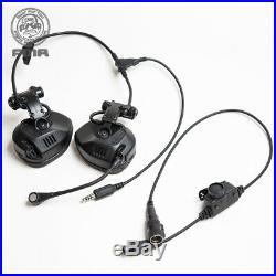 FMA FCS RAC Tactical Headset Noise Reduction Rail Attached ARC Highcut SF PTT