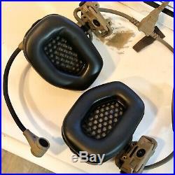 Gentex Ops Core RAC Helmet Mounted Hearing Protection FDE Tan Electronic