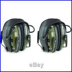 Honeywell R-01526-PK2 Howard Leight Electronic Earmuff, 2-Pack, Classic Green