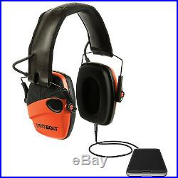 Howard Leight Impact Sport Bolt, Earmuff, Orange, Electronic, Folding R-02231