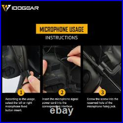 IDOGEAR Tactical Electronic Headset Ear Muffs For Helmet Hunting Noice Reduction