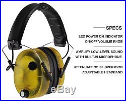 Impact Sport Sound Amplification Electronic Shooting Earmuffs Pro Ear Protection