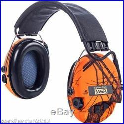 + MSA Sordin Supreme Pro X LED Ear Muffs ORANGE BLAZE Made in Sweden