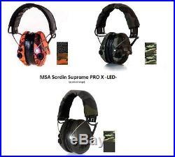 MSA Sordin Supreme Pro X, LED Light Electronic Ear Muff Shooting, Protection