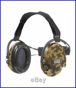 MSA Sordin Supreme Pro X Neckband CAMO Edition Electronic Earmuff, slim