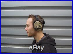 MSA Sordin Supreme Pro X Neckband CAMO Edition Electronic Earmuff, slim-de