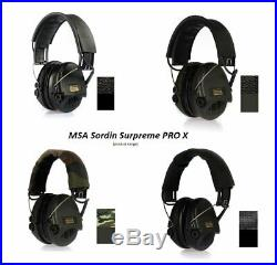 MSA Sordin Supreme Pro X Special Edition Electronic Earmuff with Black He