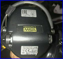 MSA Sordin Supreme Pro X black cups Neckband Earmuff OPEN BOX 76302-X-02