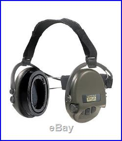 MSA Sordin Supreme Pro X with green cups Neckband Electronic Earmuff with