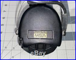 Msa Sordin Supreme Pro X Black With Leather Headband And Gel Ear Cups
