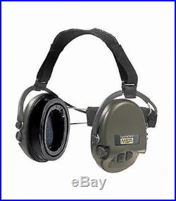 Msa supreme pro x with green cups neckband electronic earmuff equipped with