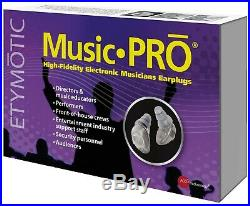 Music PRO High Fidelity Universal Fit Electronic Earplugs