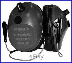 NEW Pro Ears GS-PT300-L-B-BH BLACK Tac Plus Gold NRR 26 Ear Muffs Lithium