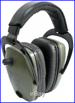 NEW Pro Ears GS-PTS-L-G GREEN Tac Slim Gold NRR 28 Electronic Ear Muffs Lithium