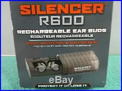 NEW Walker's Game Ear Silencer R600 Rechargeable Wireless Earbuds