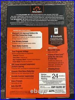 NEW Walker's Silencer 2.0 Bluetooth Rechargeable Ear Buds GWP-SLCR2-BT 21E
