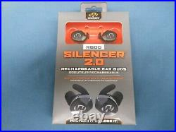 NEW Walkers GWP-SLCRRC2 Silencer 2.0 Rechargeable 24 DB Black Ear Muffs R600