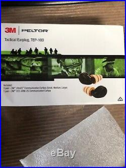 New! 3M Peltor TEP-100 Rechargeable Tactical Digital Earplug Set Army Grade