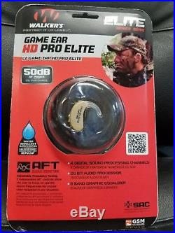 New Walker's Game Ear Elite NOTE 50db! Digital HD PRO Beige Listening Device