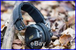 PREMIUM Electronic Ear Muffs Black Headband Cups Fitted Gel Seals Slim Earwear