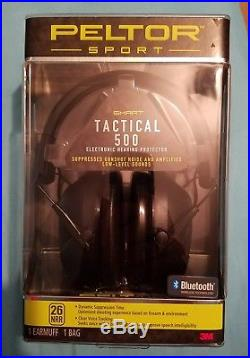 Peltor Sport Tactical 500 Electronic Bluetooth Earmuffs
