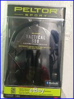 Peltor Sport Tactical 500 Electronic Hearing Bluetooth wireless Protection 26NRR