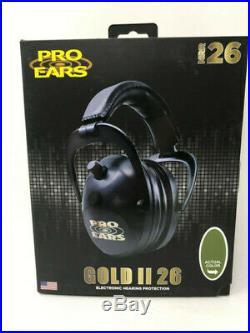 Pro Ears Gold II 26 Electronic Hearing Protection Npr 26