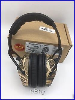 Pro Ears PREDATOR GOLD Electronic Earmuffs Hearing Max 4 HDCamo NRR 26 GSP300CM4