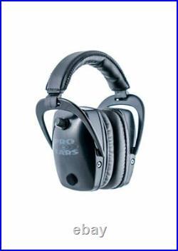 Pro Ears PRO-TAC SLIM GOLD Electronic Amplified CONTOURED Earmuff NRR 28 Black