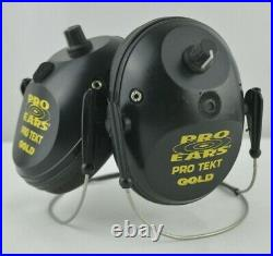Pro Ears Pro Tekt Gold Electronic Hearing Protection with Behind Head Band See