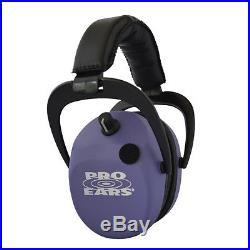 Pro Ears Stalker Gold NRR 25dB, Purple Electronic Hearing Protector Ear Muff