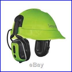SMNH0001 Electronic Ear Muff, 23dB, Helmet Mt, Grn