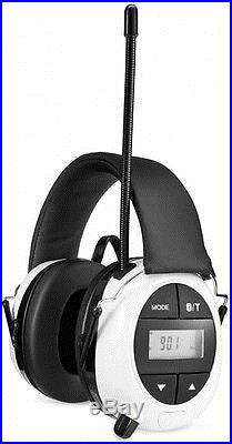 Safety Works Ear Muffs Electronic Hearing Noise Protection Earmuffs Bluetooth