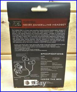 Silynx Clarus Pro Noise Cancelling Hearing Protection Headset CPRO-B-00