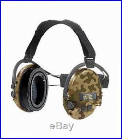 Supreme pro x neckband camo edition electronic earmuff, slim-design